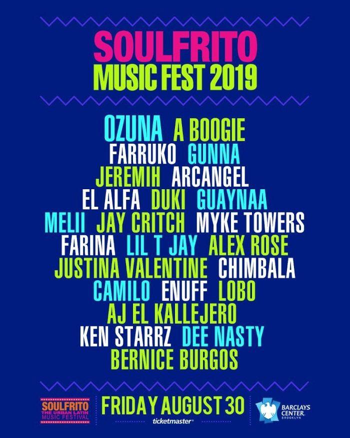 Cartelera Soulfrito Music Fest 2019 - Formula Entretenimiento