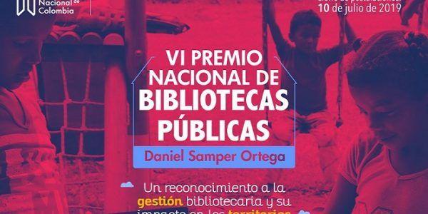 VI Premio Nacional de Bibliotecas publicas - Formula Entretenimiento